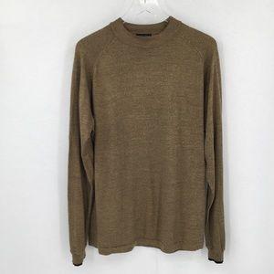 Anthology silk marled sweater black tan men L